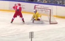 Video: Ovechkin laittoi tylyn rankkarin näytösottelussa