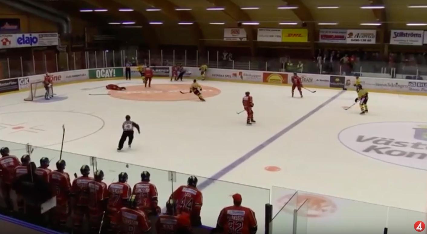 Video: Allsvenskanin harjoitusottelussa karmea temppu