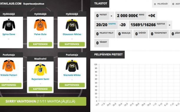 Liigapörssi tulee - tässä meidän joukkue Pallomeri.netin kimppaan