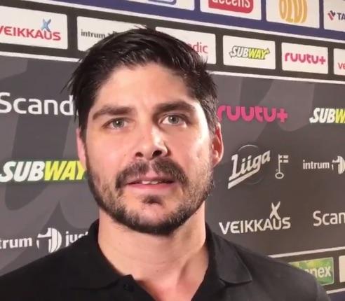 Video: Herrasmiespelaaja Eric Perrin kiittää suomalaisia kiekkofaneja