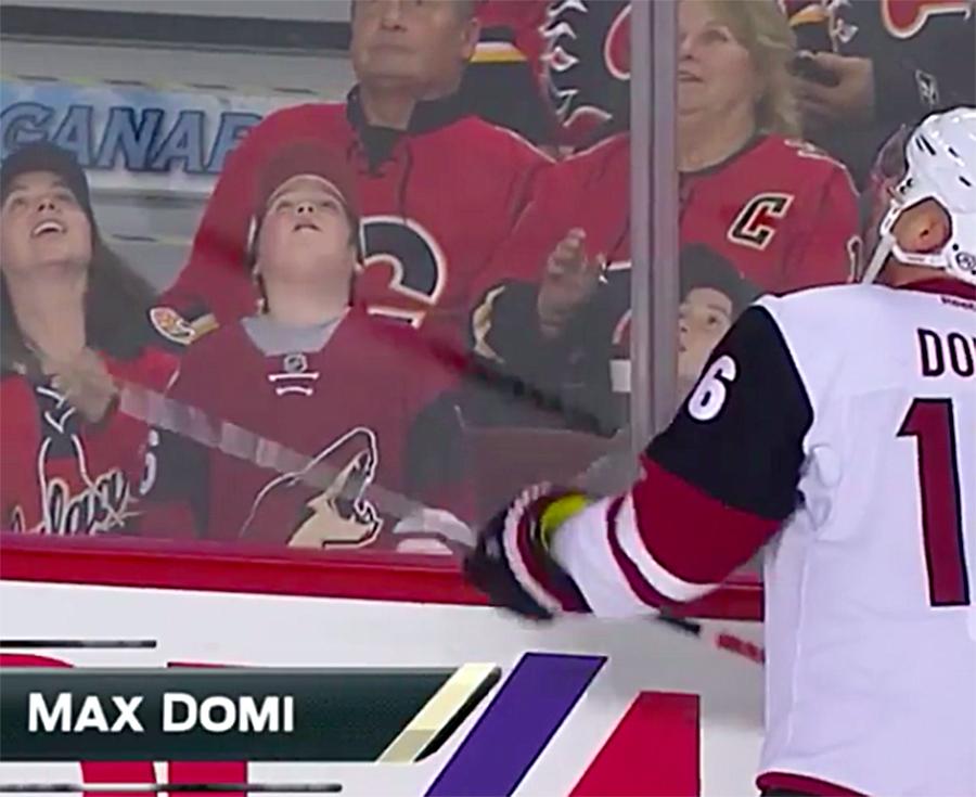 Video: Max Domi halusi muistaa pikkufania kiekolla - onnistuminen viimein