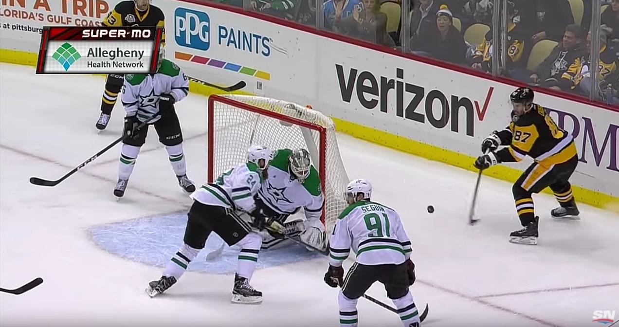 Crosby iski omituisen maalin