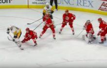 Video: Crosbyn tarjoilu Shearyn maaliin hivelee silmiä