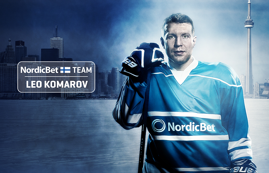Leo Komarov NordicBetin uudeksi Ambassadoriksi