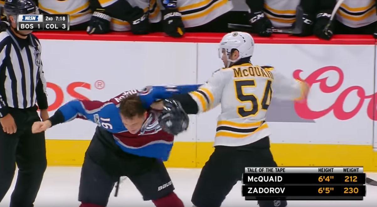 Video: McQuaid taklasi vaarallisen näköisesti - Zadorov haastoi tappeluun