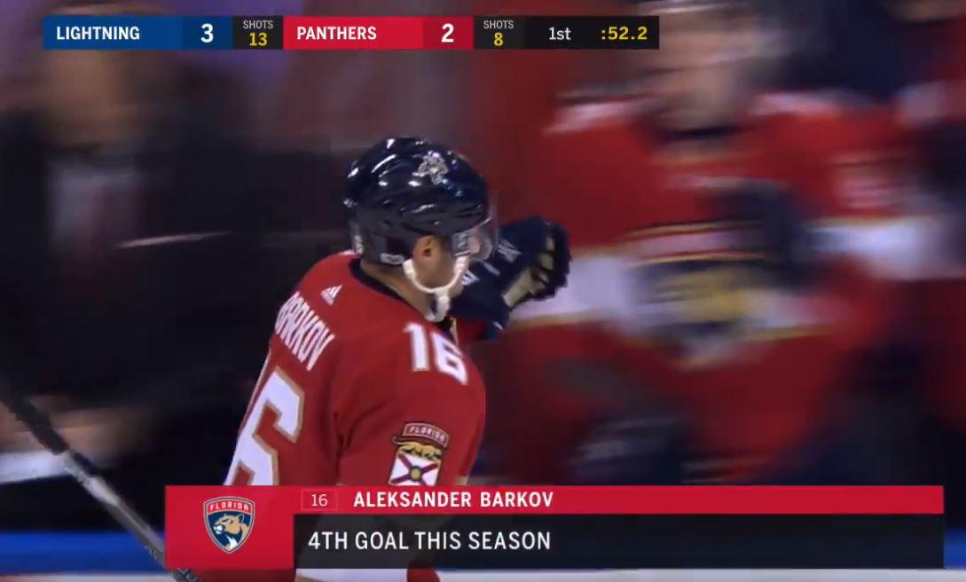 Video: Barkov vietti neljän pisteen iltaa - tehot 1+3 Tampa Bayn verkkoon