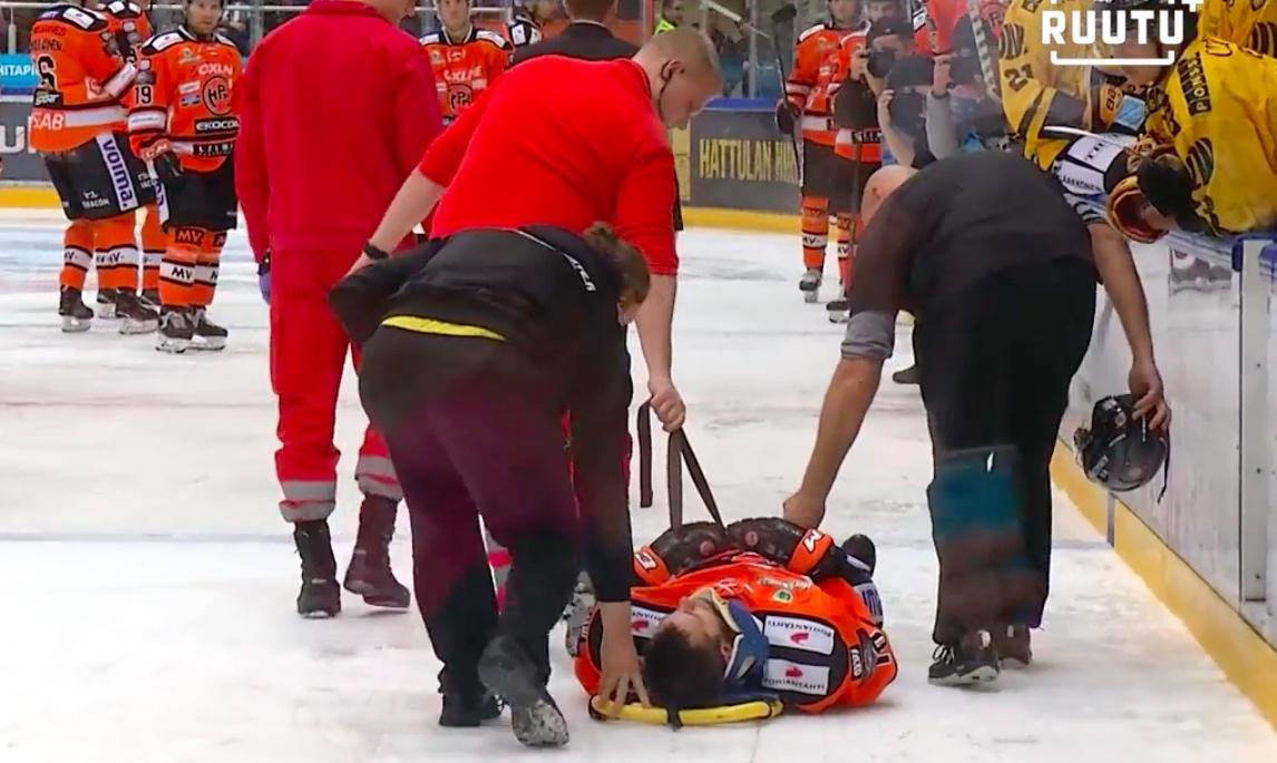 Video: Mathias Porseland loukkaantui vakavan näköisessä tilanteessa
