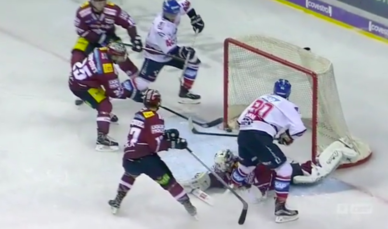 Video: Mannheim Eagles koki kovia - maalin pehmuste esti varman maalin | Laitataklaus.com