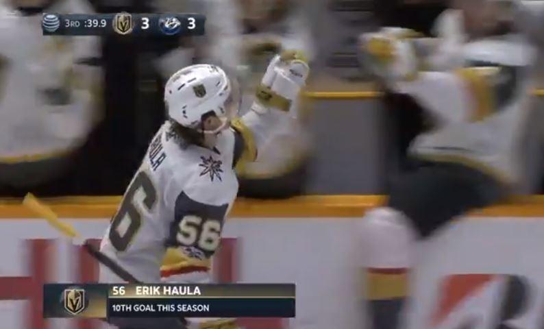 Video: Erik Haula tasoitti ottelun viime hetkillä - komea kuti Rinteen taakse