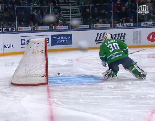Video: Ben Scrivens imuroi karmeasti KHL:n historian nopeimman osuman