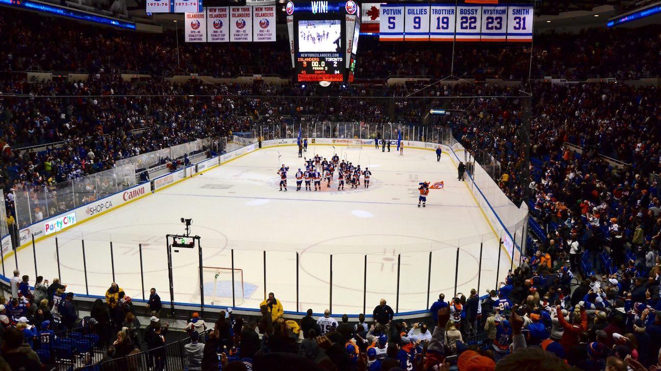 NY Islanders voitti kilvan rakennusoikeuksista Belmont Parkiin.