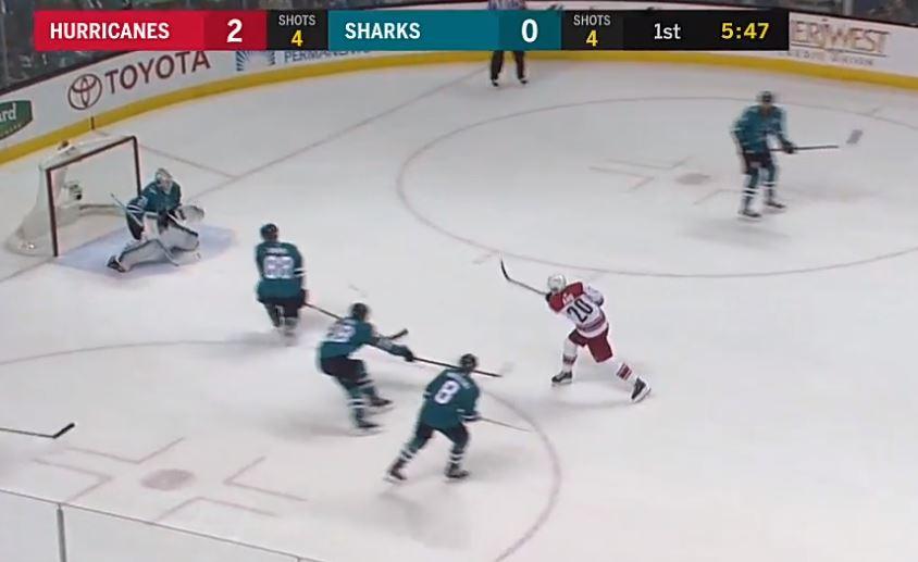 Video: Sebastian Aho maalasi kaksi kertaa Sharksin rysään JA-tappiossa