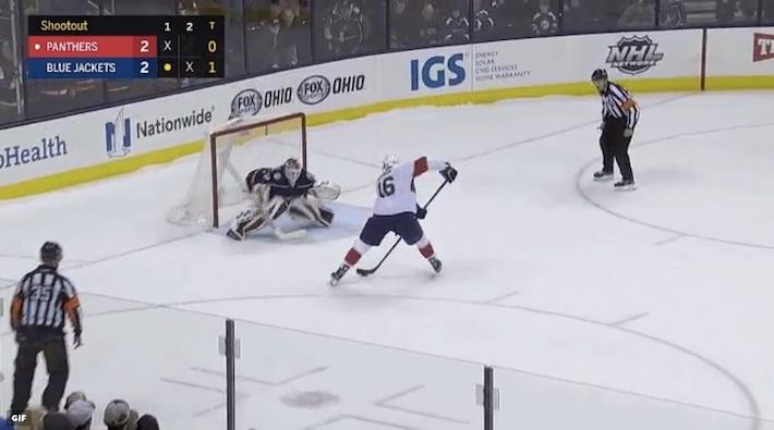 Aleksander Barkov on todellinen rankkarispesialisti ja hän onkin laittanut NHL-urallaan yli puolet yrityksistään sisään.