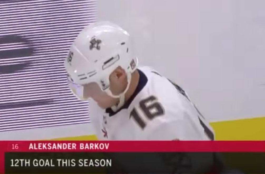 Florida Panthersin Aleksander Barkov osui viime yönä Detroit Red Wingsiä vastaan, keräten tililleen kuluvan kauden 12. maalinsa.