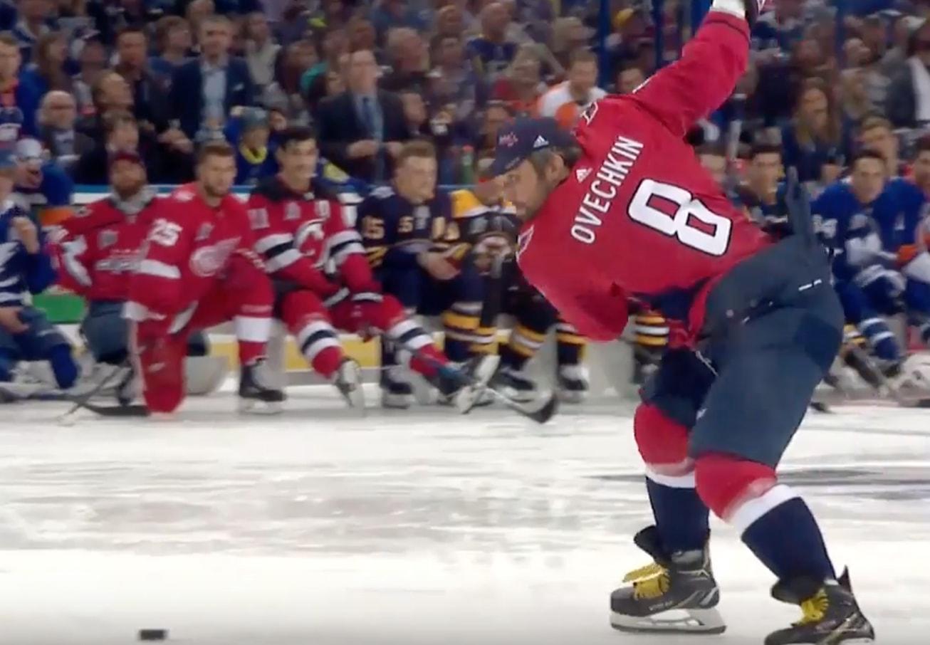 Alexander Ovechkin vei nimiinsä NHL:n kovimman laukauksen.