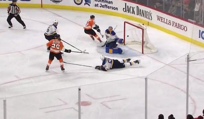 Philadelphia Flyers -kapteeni Claude Giroux'n nimiin kirjattu peppumaali on noussut somehitiksi.