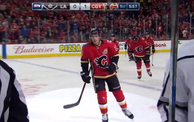 VIDEO: Calgaryn ykkösketju loihti hämmästyttävän nyytin Kingsiä vastaan