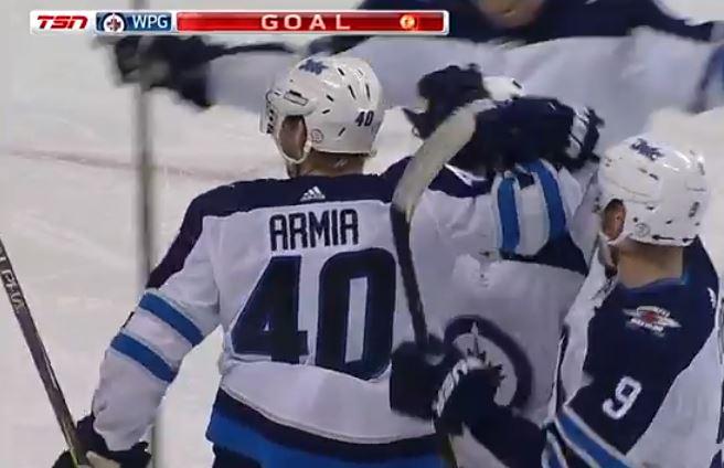 VIDEO: Jetsin Joel Armia huimassa vedossa - pari rysää Sharksia vastaan
