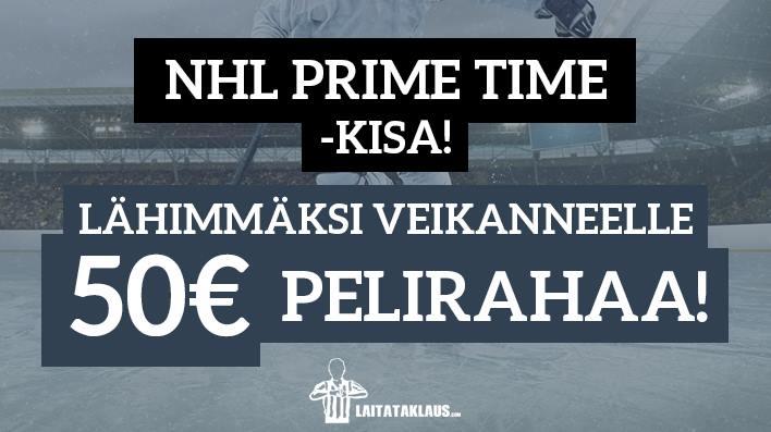 NHL Prime Time -KISA! - lähimmäksi veikanneelle 50€ pelirahaa