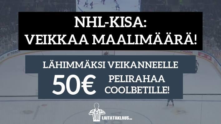 NHL Prime Time -KISA! - lähimmäksi veikanneelle 50€ pelirahaa!