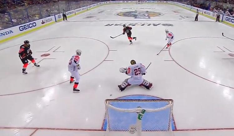 Nathan MacKinnon avasi NHL:n All Star -turnauksessa maalinteon upealla kudilla.
