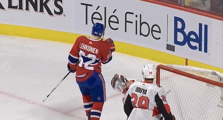 Montreal Canadiensin Artturi Lehkonen onnistui vihdoin ja viimein maalinteossa.