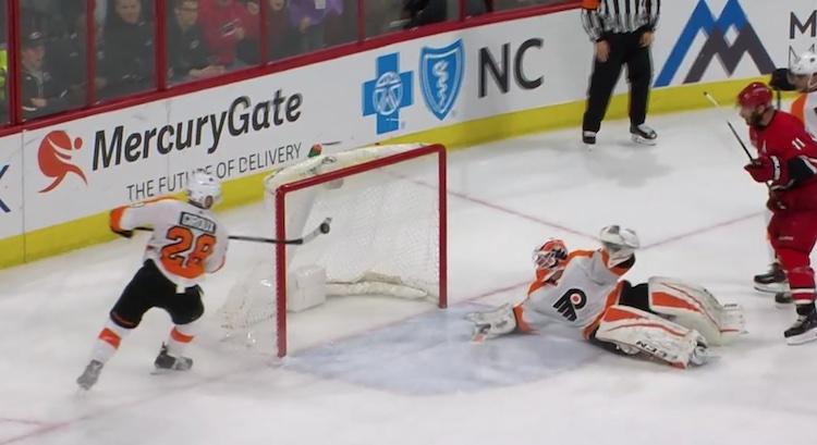 Philadelphia Flyersin Claude Giroux pelasti joukkueensa varmalta näyttäneeltä maalilta.