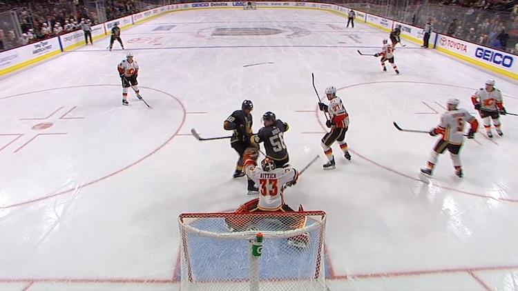 Erik Haulan Calgary Flamesia vastaan iskemä maali oli hänelle jo kauden 23:s.