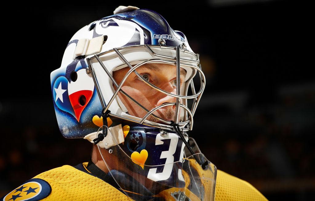 Nashville Predatorsin Pekka Rinne pelasi jo kauden viidennen nollapelinsä.