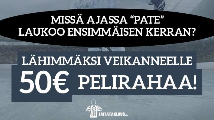 Patrik Laine -KISA! - lähimmäksi veikanneelle 50€ pelirahaa