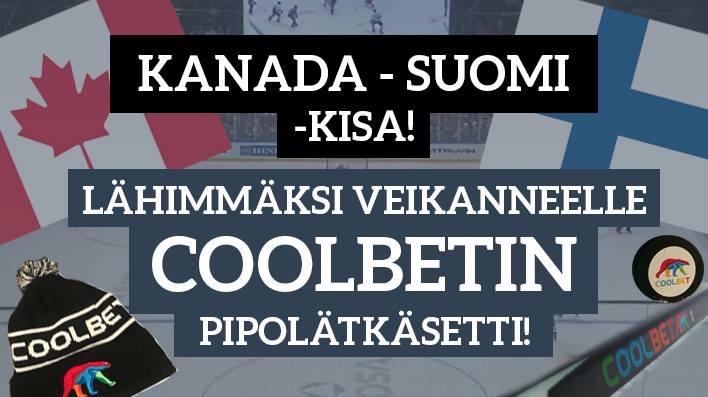 Kanada - Suomi -KISA! Lähimmäksi veikanneelle talven kuumin pipolätkäsetti!