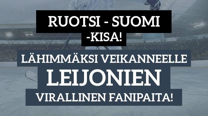 Ruotsi - Suomi -KISA! - lähimmäksi veikanneelle Leijonien virallinen fanipaita!