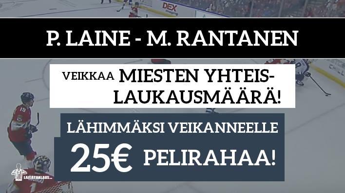 NHL Prime Time -KISA! Lähimmäksi veikanneelle 25€ pelirahaa
