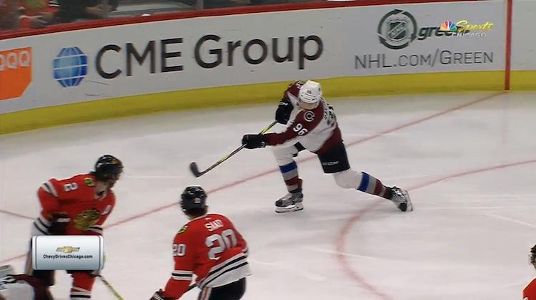 Mikko Rantasen kauden 26:s maali syntyi Chicago Blackhawksin verkkoon.