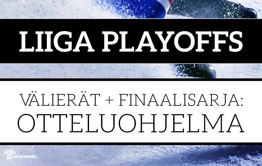 Liiga – Välierät & mitalipelit 2018: Otteluohjelma & aikataulut