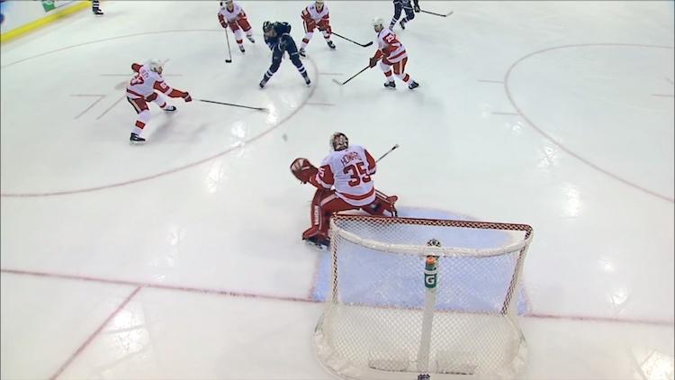 Winnipeg Jetsin Patrik Laineelta nähtiin hieno maali Detroit Red Wingsiä vastaan.