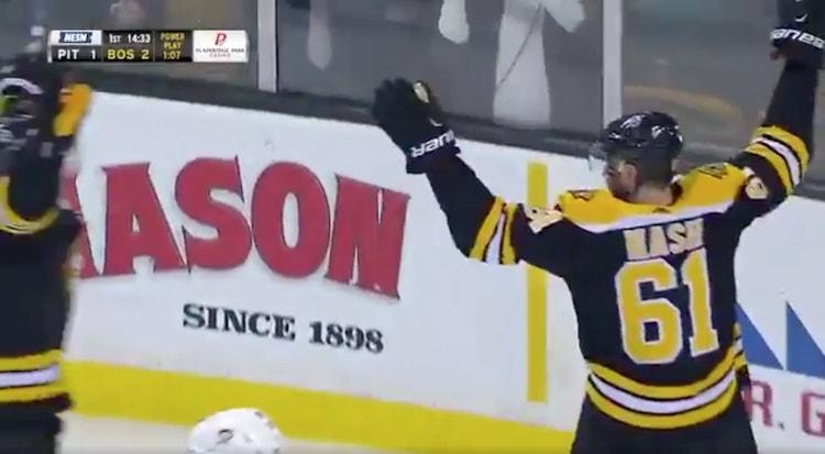 Rick Nash iski viime yönä Bruins-uransa toisen maalin.