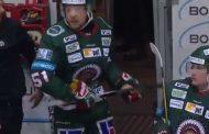 VIDEO: Frölundan Rosseli Olsen pimahti - hakkasi vaihtoaition takaovea mailallaan