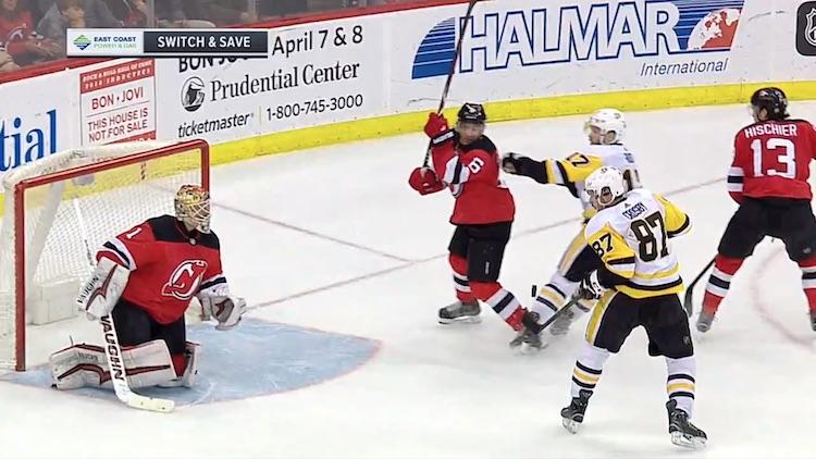 Sidney Crosby osui jälleen ilmasta.