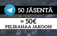 Liity Telegram-ryhmäämme ja voita 50€ pelirahaa!