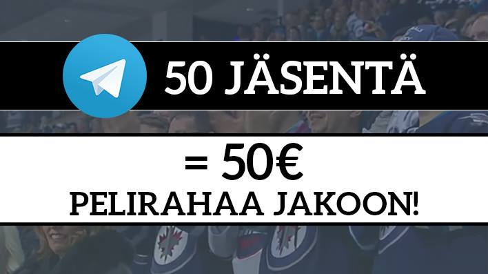 Liity Telegram-ryhmäämme, ja voit voittaa 50€ pelirahaa!