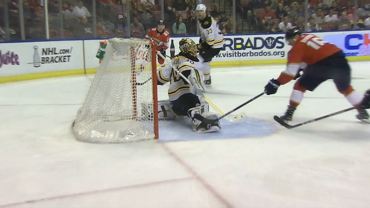 Aleksander Barkoville NHL-uran 100:s maali ei olisi voinut juuri tärkeämpään paikkaan tulla.