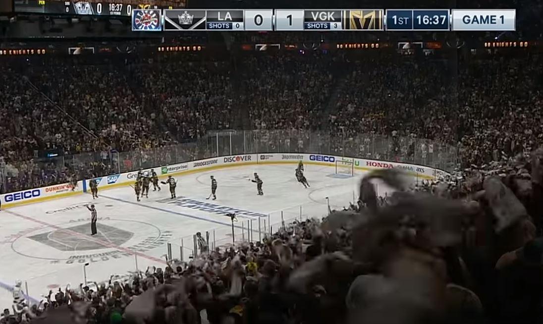 VIDEO: Vegas Golden Knights voittoon seuran ensimmäisessä playoff-pelissä