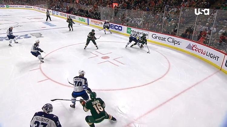 Mikko Koivu ja Mikael Granlund olivat oivalla pelipäällä 3. ottelussa Winnipeg Jetsiä vastaan.