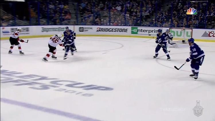 New Jersey Devilsin Sami Vatanen iski kuluvan pudotuspelikevään avausmaalinsa näyttävällä rannelaukauksella.