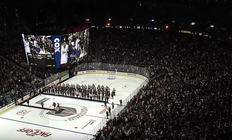 Vegas jäädytti ensimmäisen pelinumeronsa - #58 nyt hallin katossa
