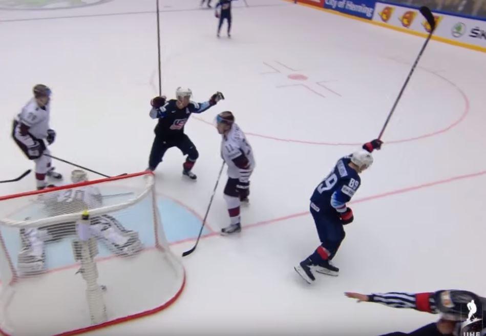 VIDEO: Latvia lähellä jättiyllätystä - Cam Atkinson jälleen USA:n sankarina