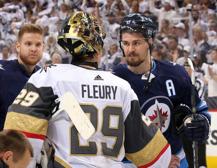 Winnipegin Mark Scheifele tykitti, että Marc-Andre Fleury on liigan paras maalivahti.