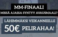 Jääkiekon MM-finaali -KISA! Lähimmäksi veikanneelle 50€ pelirahaa