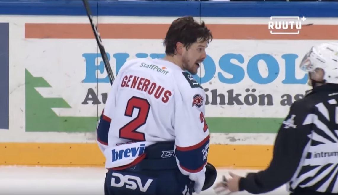 Puolustaja Matt Generous palaa Liigaan - teki sopimuksen Ilveksen kanssa